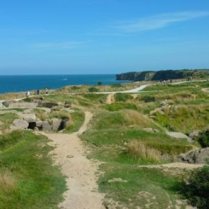 Viaje en Bici por Normandía Occidental - Point du Hoc Paisaje