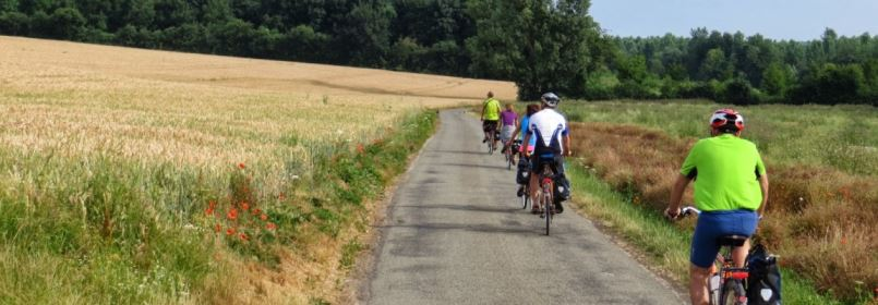 Cycling Tour from Paris to London - Cycling along a Country Road