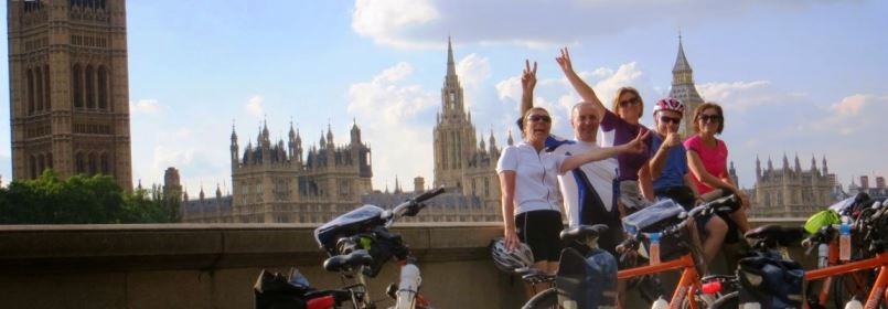 Cycling Tour from Paris to London - Cyclists in London