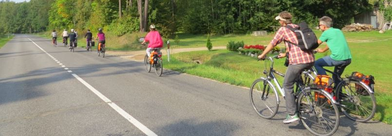 Cycling Holiday in Lithuania - Cyclists on Quiet Country Road